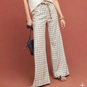 Anthropologie Windowpane Trousers